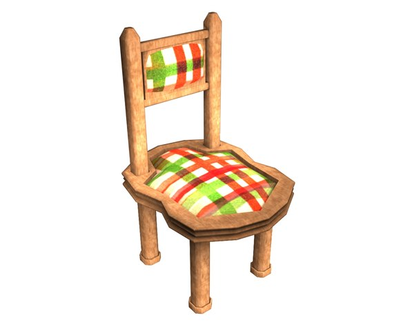 free 3ds model wood chair