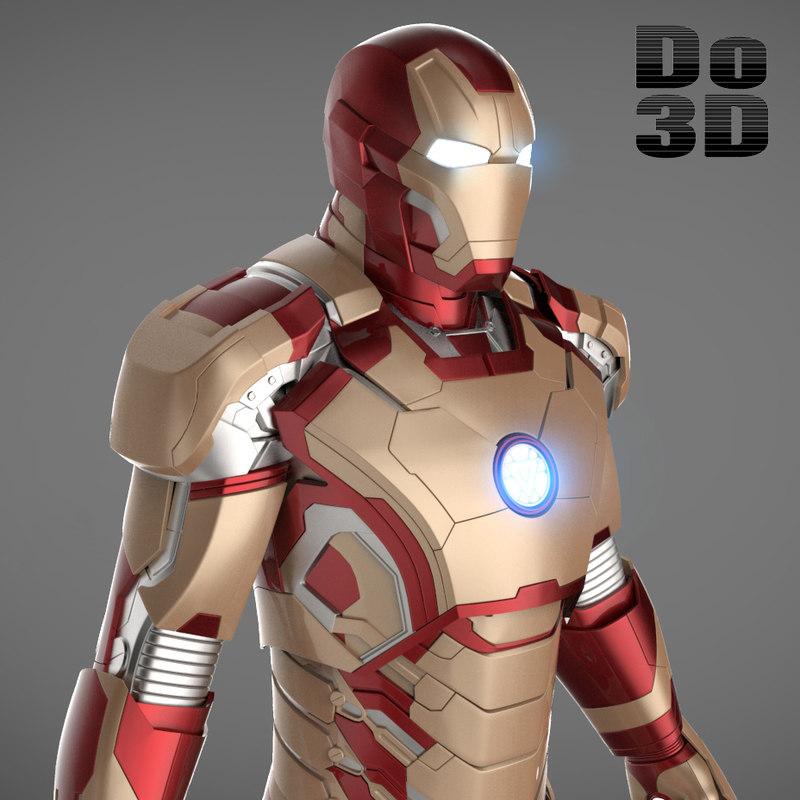 3d model mark 42 armor