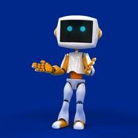 3d droid robot biped