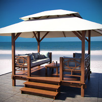 3d tropical gazebo