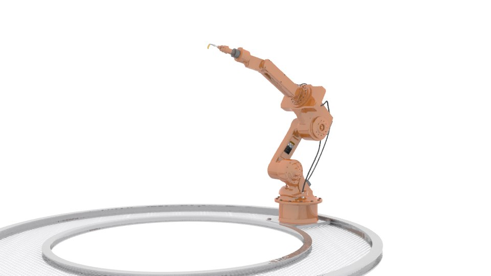 industrial arm robot 3d model