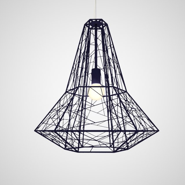 3d lamp nuevo apollo model