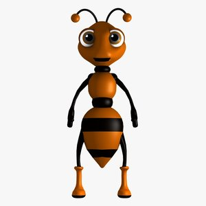 ant character obj