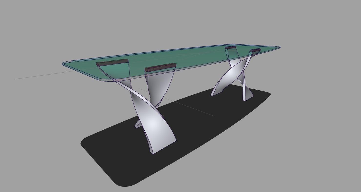 3d porada table