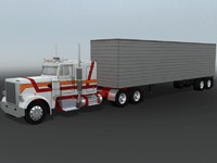 Low Poly Truck & Trailer