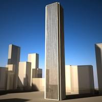 3d model aon center building skyscraper