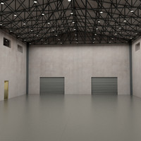 warehouse interior 3d max