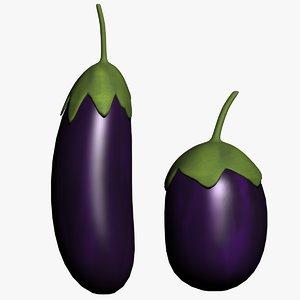 3d eggplant-brinjal-vegetable-purple-food-vegetarian-kitchen ingredient