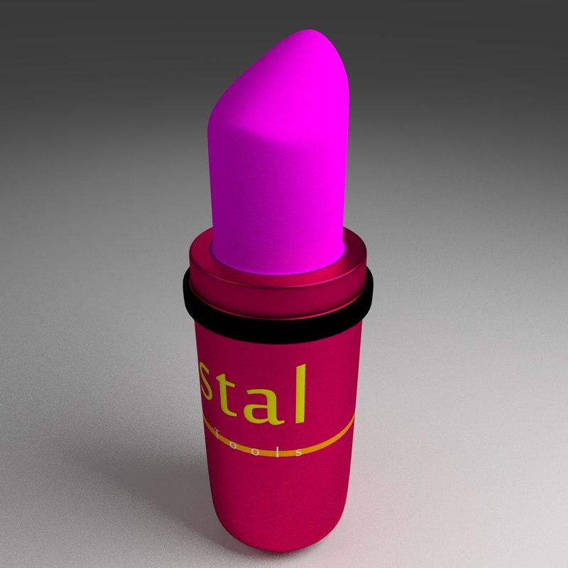 free 3ds model lipstick lip