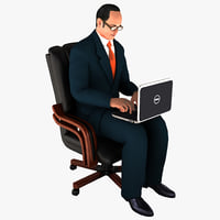 3ds max businessman 2 pose 6