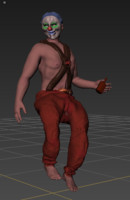 3ds max creepy clown