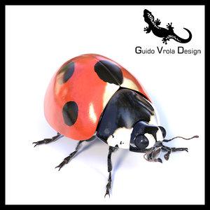 ladybug accurate 3d fbx