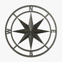 3d model metal compass fg