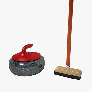 3d model curling