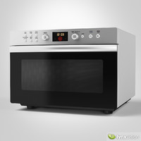 3d counter-top electric oven model