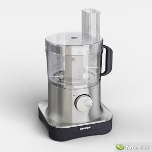 3ds max kenwood pro food processor