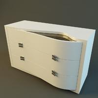 3d model modern dresser rubino treci