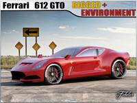 3d ferrari 612 gto concept model