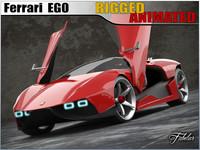 3d ferrari ego