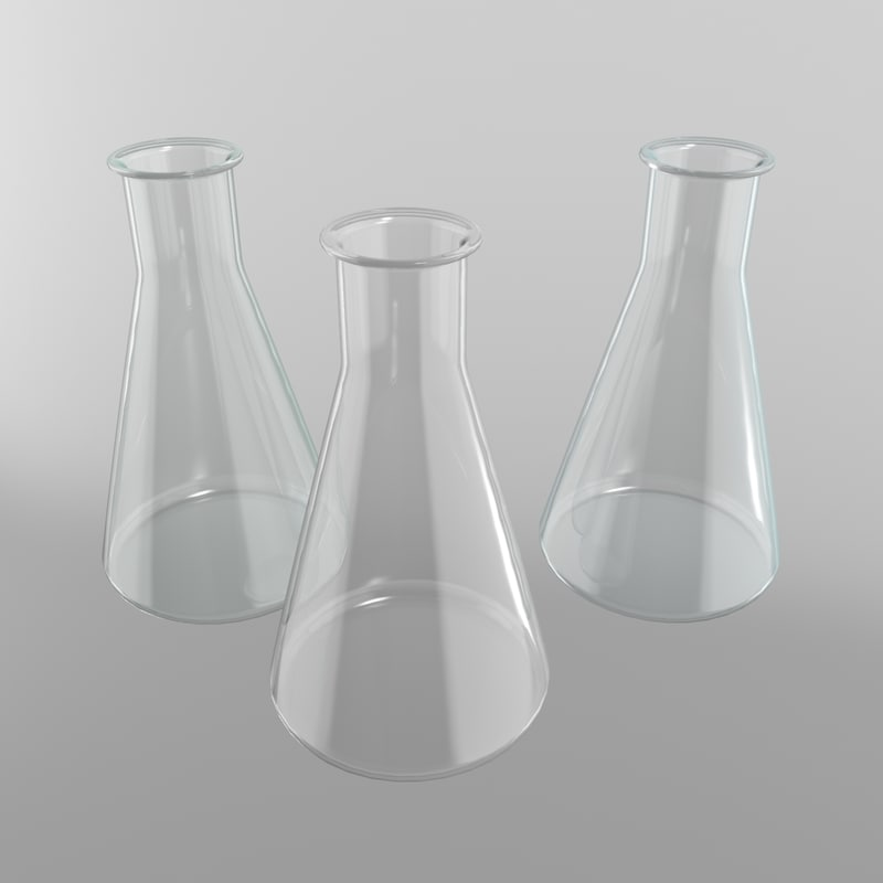 3d max flask conical