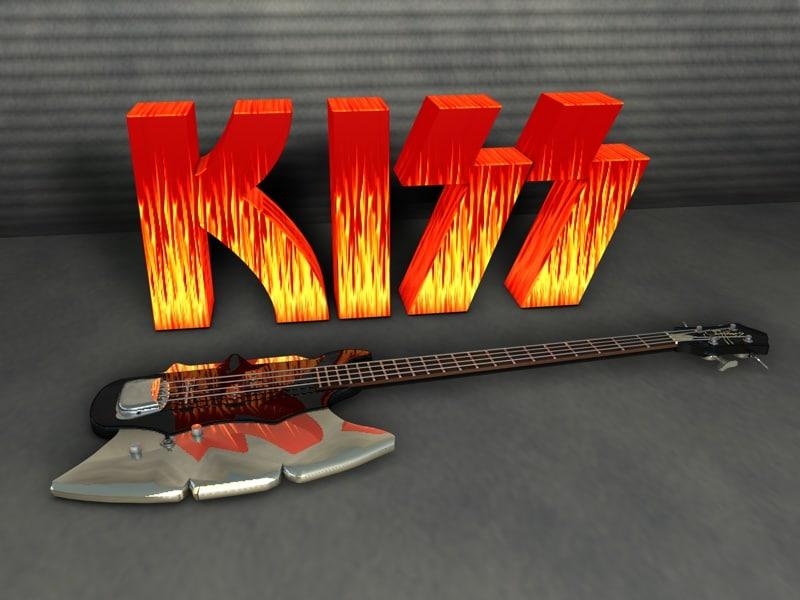 kiss gene simmons axe 3d model