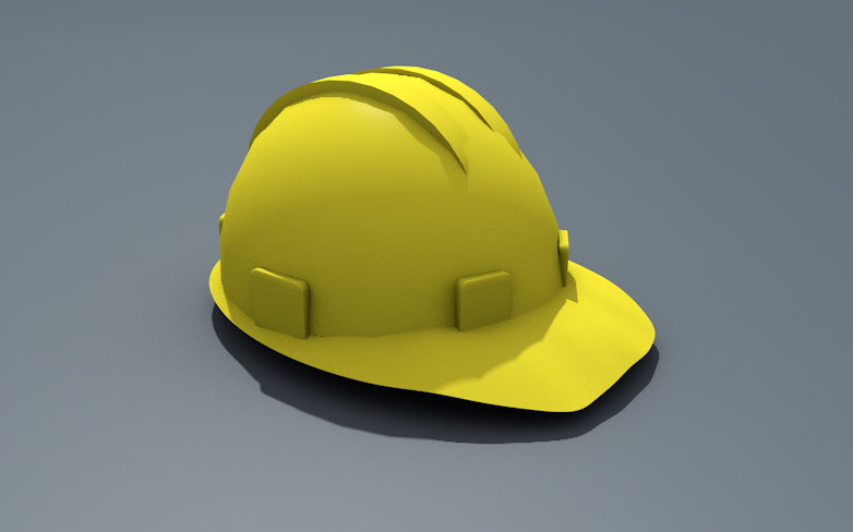 helmet hard building model