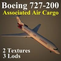 boeing 727-200 scd 3d max