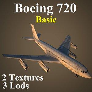 max boeing 720 basic