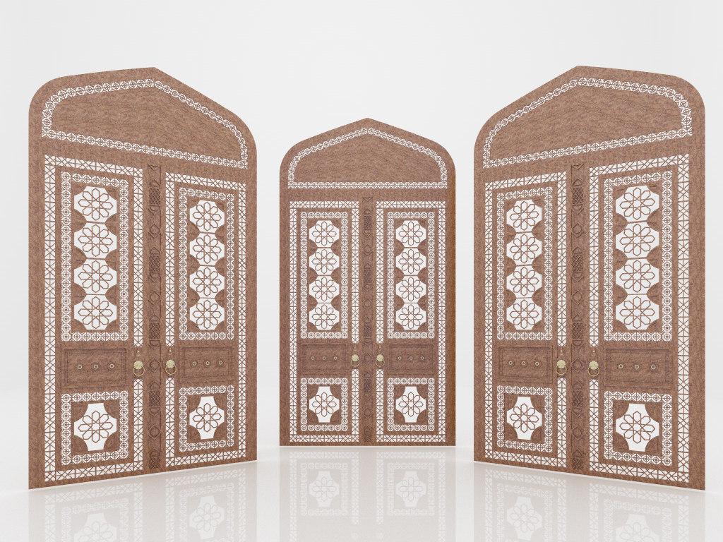 3d door old antique