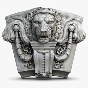 lion head molding obj