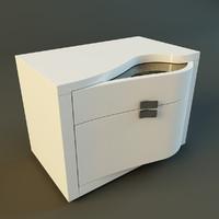 3dsmax modern nightstand rubino treci