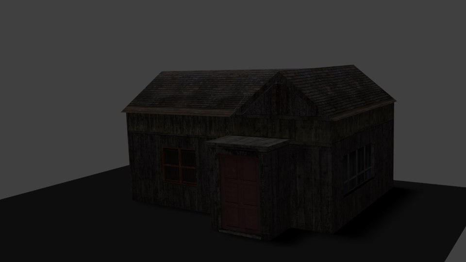 small house forest 3d model