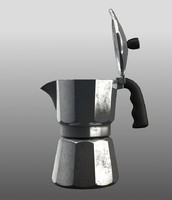 old moka pot 3d model