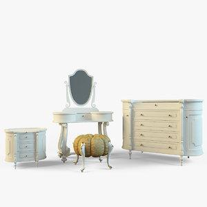 3dsmax set classic furniture volpi