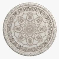 3d rosette molding
