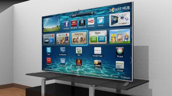 samsung f8000 smart tv 3d model