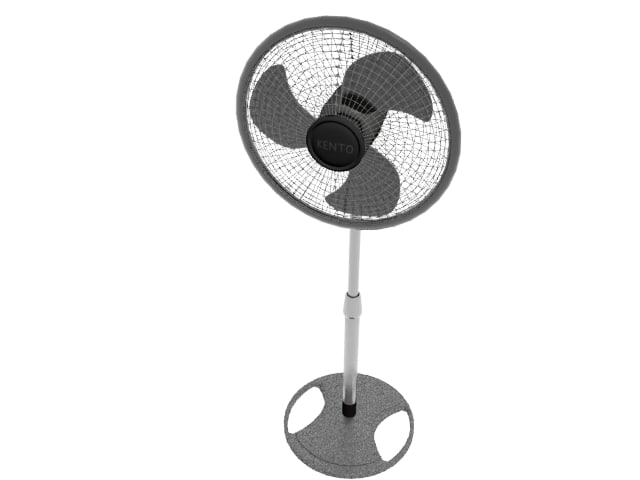 3d model stand fan