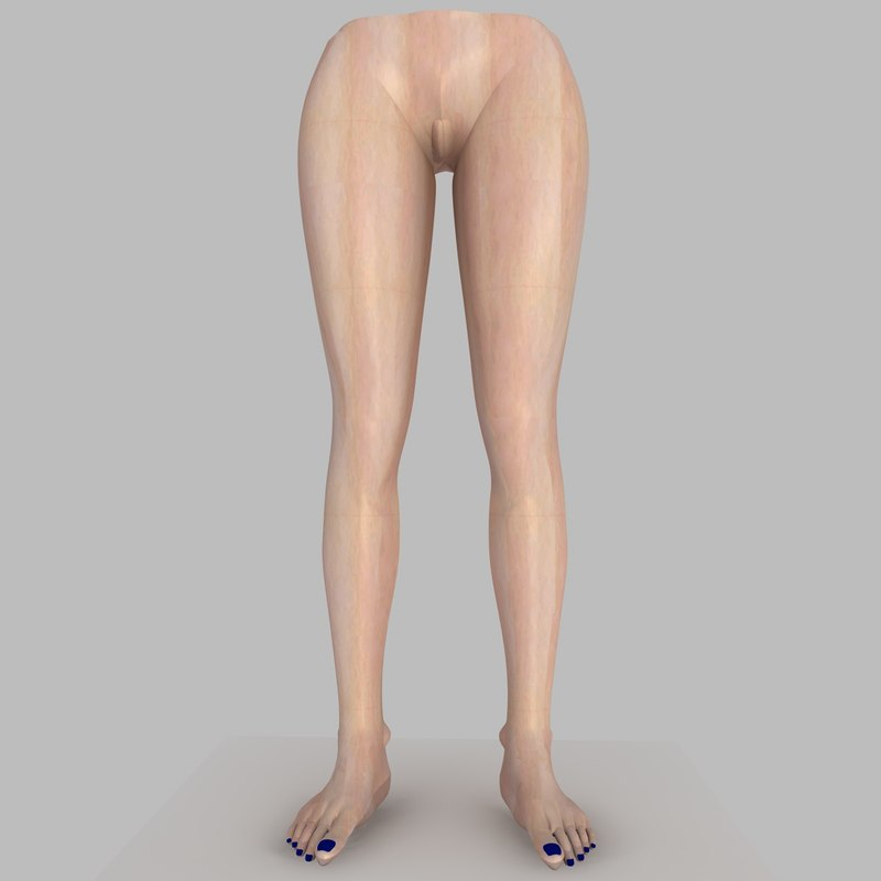 3d model realistically woman legs