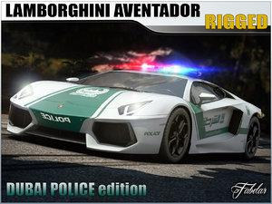 3d model lamborghini aventador dubai police