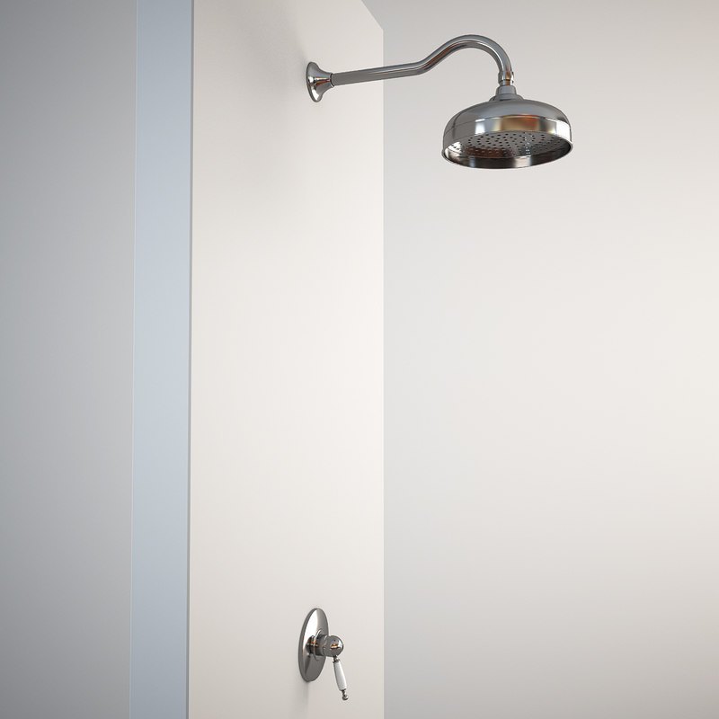 3d classic shower built model