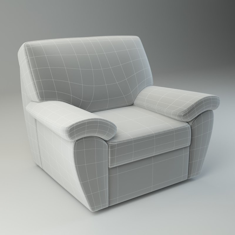 basic armchair senator 3d max