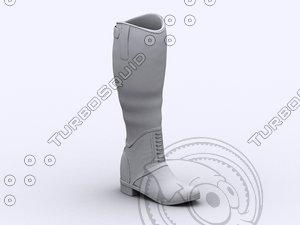heel boot 3d obj