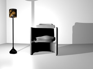 black steel lamp blend
