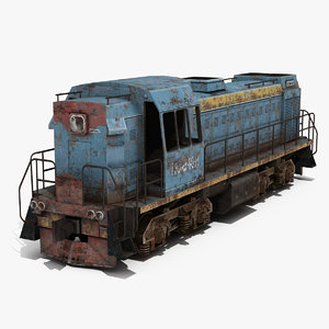 locomotive engine 3d model