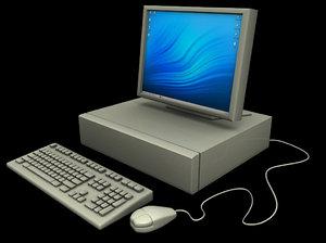 nineties era computer 3d model