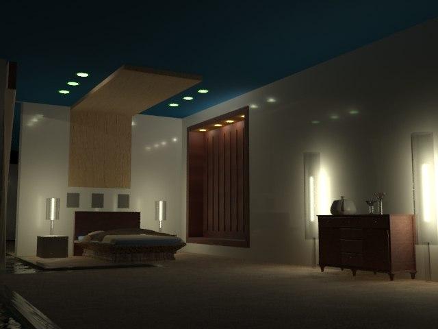 3d model bedroom
