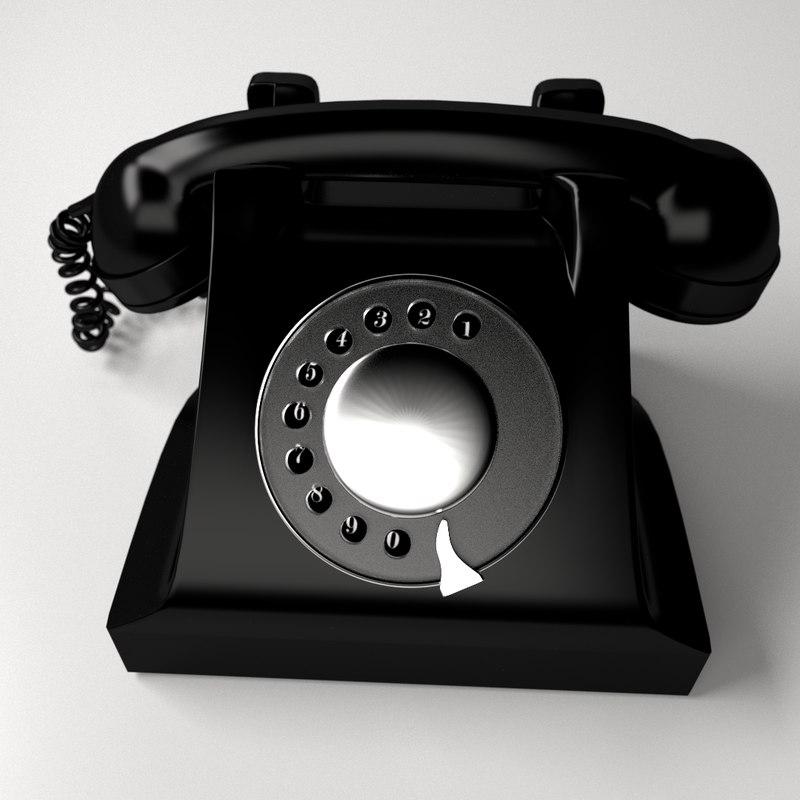3d model rotary phone