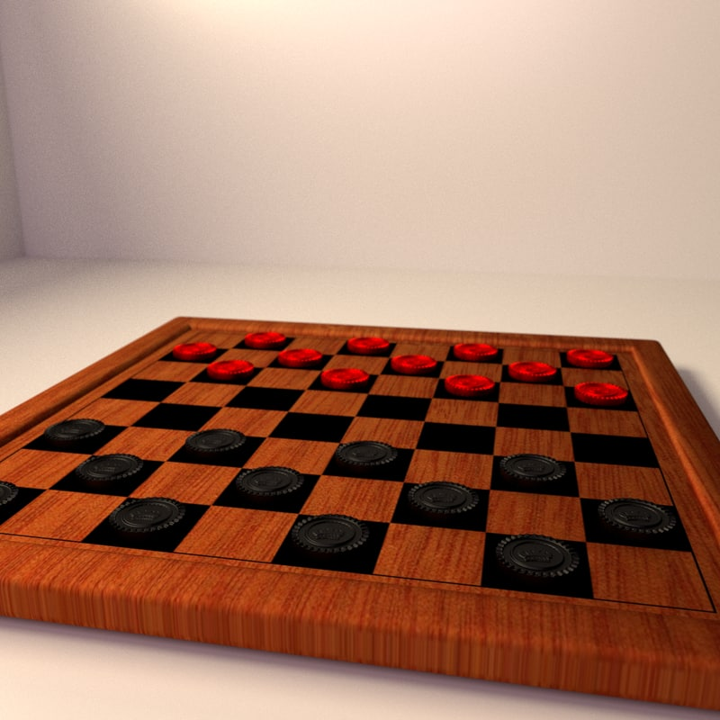 checkers board 3d model