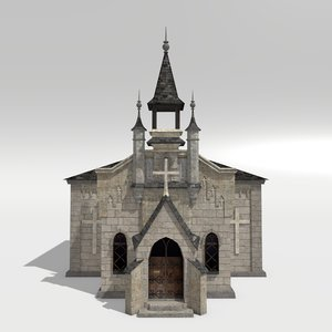 medieval chapel 3d obj