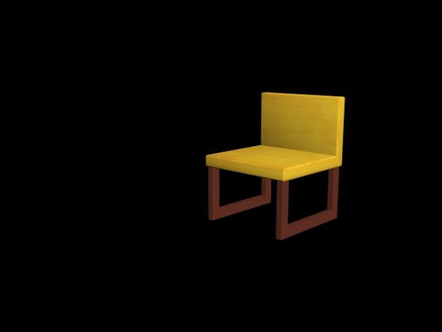 small chair 3d max